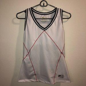 Fila 1911-2011 white and red tank top